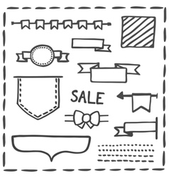 Hand drawn bullet journal headers or banner vector image vector image