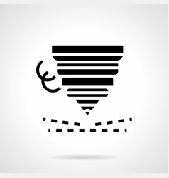 high precision laser cutting glyph icon vector image