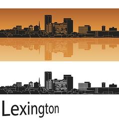 Lexington skyline in orange background vector