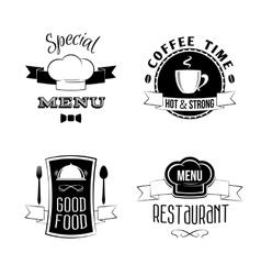 Restaurant menu emblems set vector image vector image