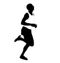 silhouette running men vector image