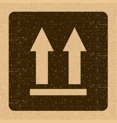 This side up icon this way up sign packaging vector