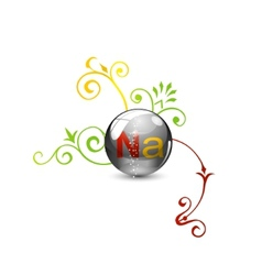 vitamin pill vector image vector image