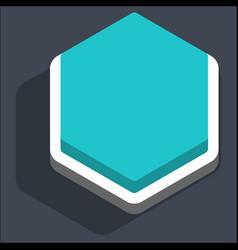 Flat blank hexagon web internet button vector