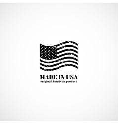 Grunge made in USA stamp with flag vector image
