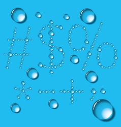 Water Drop Letters On Blue New 12 vector image vector image
