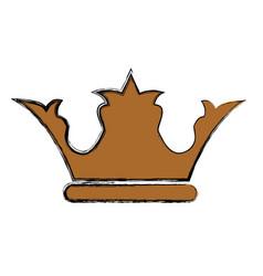 crown royalty symbol vector image vector image