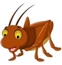 cute grasshopper cartoon for you design vector image