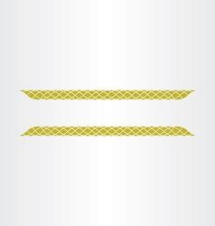 decorative golden title frame line design element vector image vector image