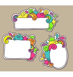 frames funky vector image vector image