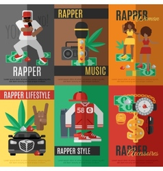 Rap Music Poster vector image