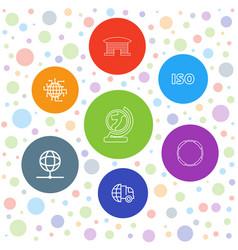 7 international icons vector
