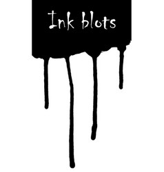 a set of ink blots of various shapes vector image