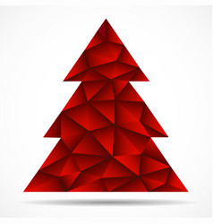Abstract colorful christmas tree from triangles vector