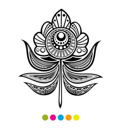Abstract floral feather vector