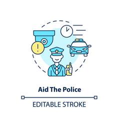 Aid police concept icon vector