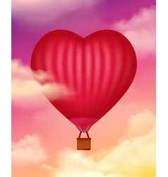 Air baloon realistic background vector