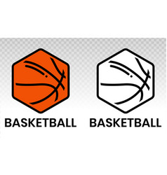 Basketball icon or logo for sports apps vector