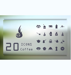 Big set of icons in flat style stylish coffee set vector