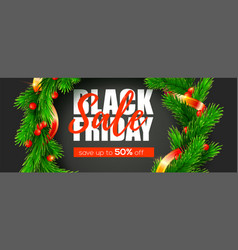 black friday festive price reduction holiday vector image