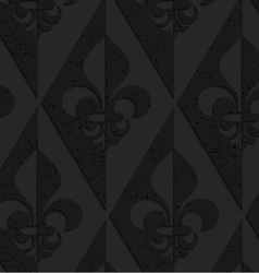Black textured plastic Fleur-de-lis half and half vector