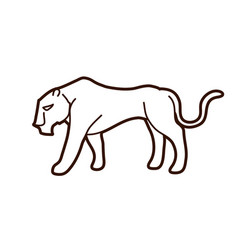 Black tiger or lioness graphic vector