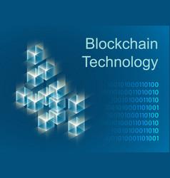 blockchain concept slider banner design vector image