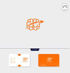 brain premium logo template for your business and vector image