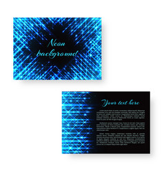 Bright notebook with neon light vector