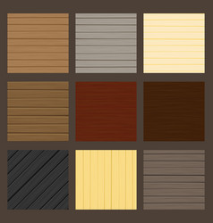 cartoon wood texture set vector image