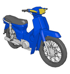Cheap method of transport motorbike or color vector