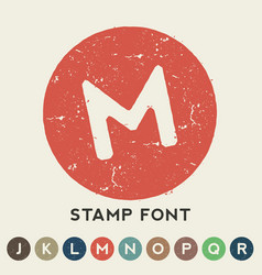 Circular retro stamp template vector