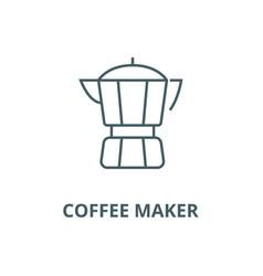 coffee maker line icon coffee maker vector image