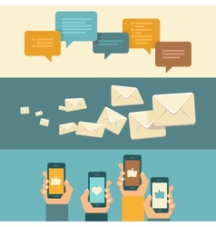 communication concepts in flat style vector image