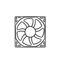 computer fan hand drawn outline doodle icon vector image