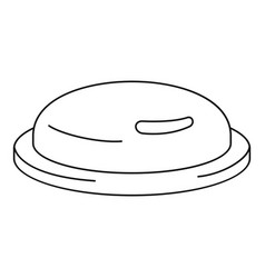 condom icon outline style vector image