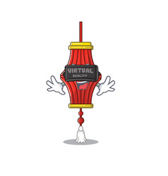 Cool chinese paper lanterns character in virtual vector