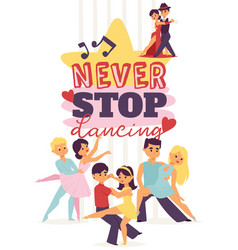 dancing man and woman ballroom sports dances vector image