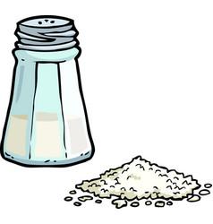 Doodle salt shaker vector