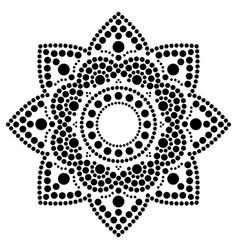 Dot painting ethnic mandala traditional vector