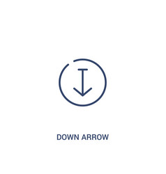 Down arrow concept 2 colored icon simple line vector