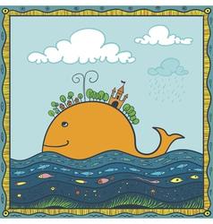 Fish island vector