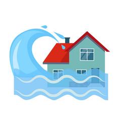flood house insurance vector image