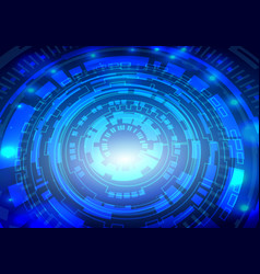 Futuristic interface hud techno circle abstract vector