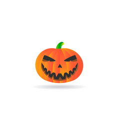 halloween pumpkin autumn logo vector image