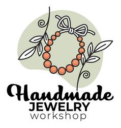 Handmade jewelry workshop do it yourself diy vector