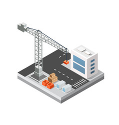 industrial isometric 3d city vector image