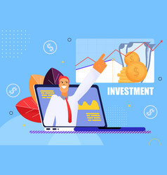 Investment on blue background vector