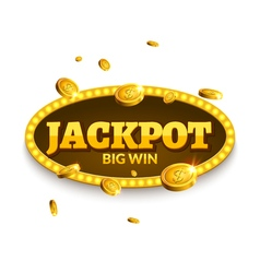 Jackpot gambling retro banner decoration Business vector