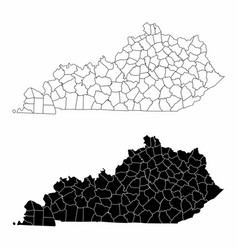 Kentucky county maps vector